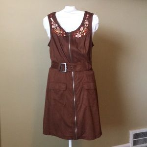 Her Universe Solo Collection Suede Zipper Dress